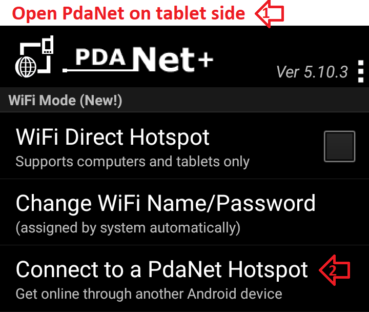 How to setup WiFi Direct Hotspot connection from Chromebook?